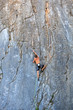 Climber On Sistiana Rock, Trie...