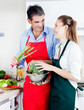 Man and Woman Cooking in Kitchen