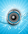 abstract Speakers blue bright background vector