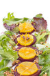 Beetroot and orange salad with walnuts and orange zest