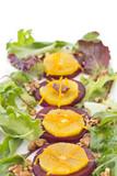 Beetroot and orange salad with walnuts and orange zest
