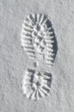 snow sole imprint poster