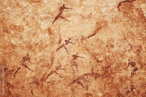 Fotobehang Algerije Rock paintings of Tassili N'Ajjer, Algeria
