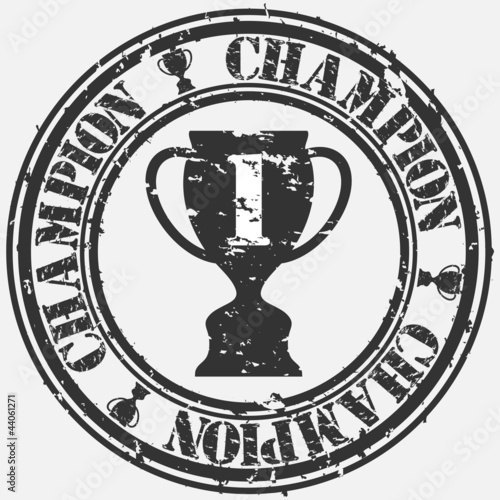 Champion rubber stamp, vector illustration