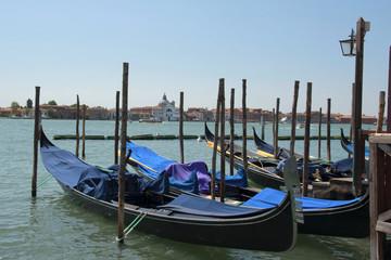 Gondeln am Canale della Giudecca