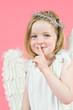 kleines Mädchen als Engel