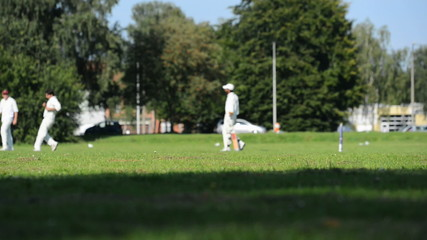 cricket match in Belgium