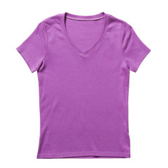 Lilac t-shirt isolated