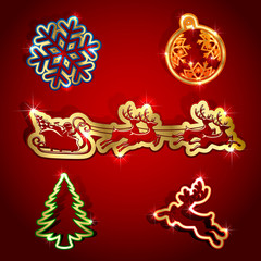 Paper Christmas icons