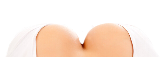 The close-up of a beautiful breast