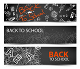 Fototapety Back to School vector banners