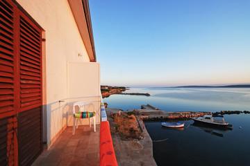 Urlaub Meer Balkon
