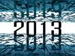 2013 bright future - abstract futuristic blue background