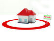 illustration of a house in the center of a red target