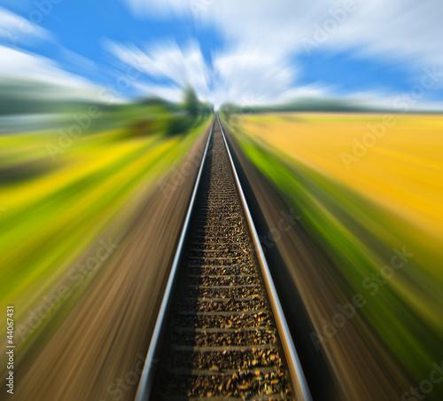 Eisenbahnlinie verwischt
