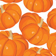 seamless background from vegetable pumkins on white