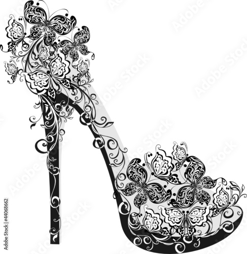 Flowers high heel