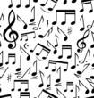 Musical notes - seamless
