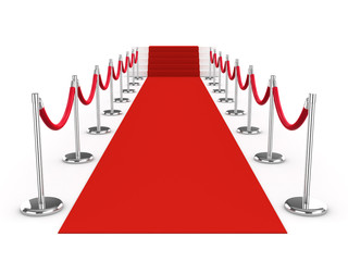 3d Red Carpet with stairs