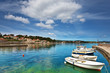 boats in marina of Lumbarda, Croatia - 44069297