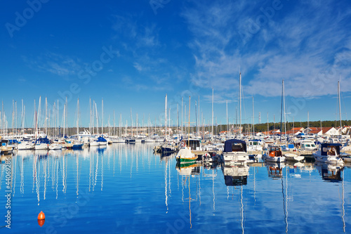 marina in Biograd. Croatia.