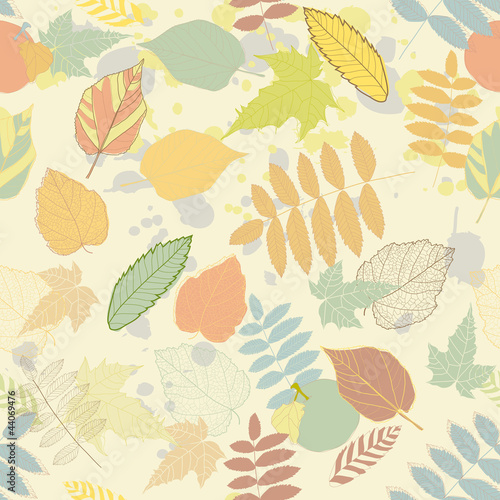 Fototapeta Vintage autumn seamless pattern vector