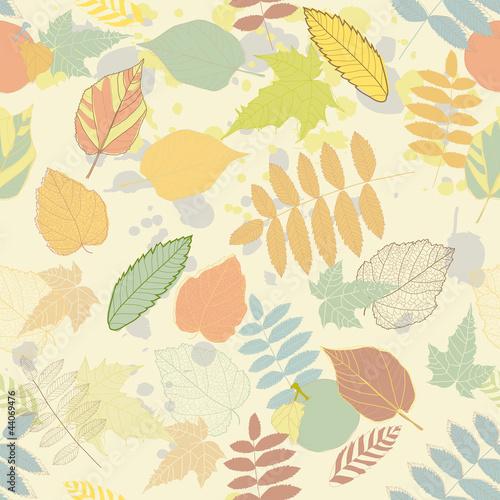 Panel Szklany Vintage autumn seamless pattern vector