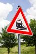 Gefahrzeichen - Unbeschrankter Bahnübergang, vertikal