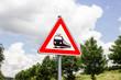 Gefahrzeichen - Unbeschrankter Bahnübergang