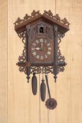 Antique cuckoo clock, (made in 1798)