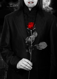 Vampire with a rose
