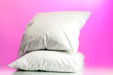 pillows, on pink background