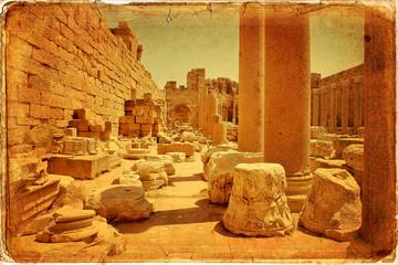 Basilica dei Severi, Foro Nuovo, Leptis Magna - Libia
