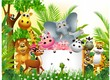 Funny Animal Cartoon With Blan...
