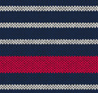 Style Seamless Marine Blue White Red Color Knitted Vector Patter