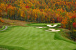 Leinwandbild Motiv Autumn Mountain Golf Course