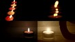 Candles in the dark (close up) - composition