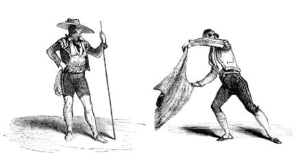 Corrida : Torero & Picador - 19th century