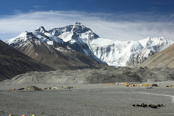 Mount Everest- Base Camp I (Tibetian side)