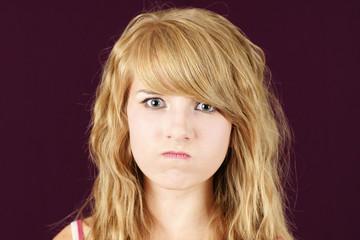 Mad or angry teenager