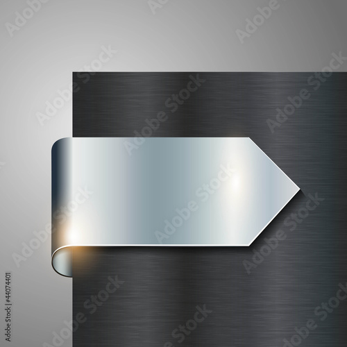 metallic vector sign