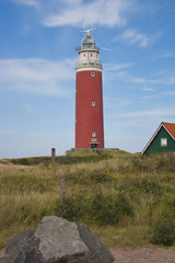 Red lighthouse on Texel island
