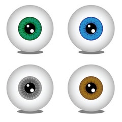 Eye balls in different colors