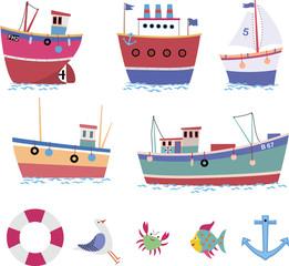Embarcações e motivos náuticos