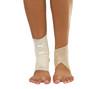 injured ankle with bandage