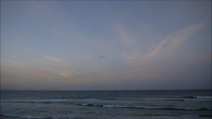 Sonnenuntergang an der Gold Coast Australiens