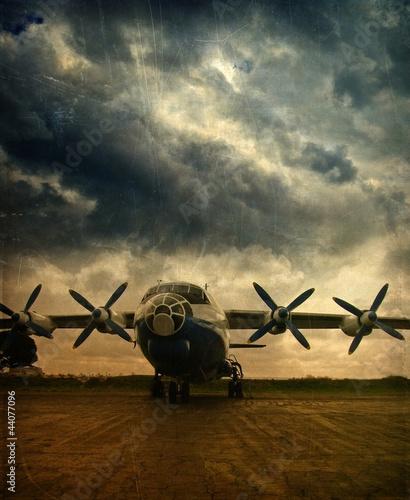 Retro lotnictwo, grunge