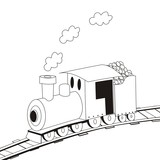 steam locomotive-coloring book