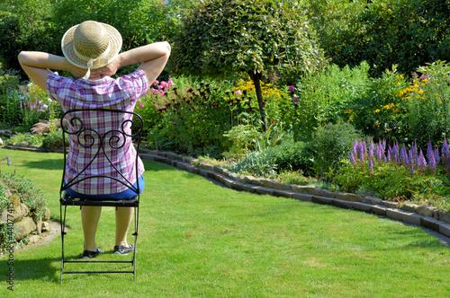 canvas print picture Entspannung im Garten