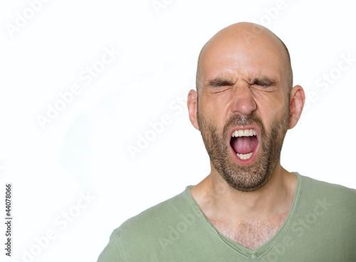 Schreiender Mann
